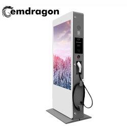 65-дюймовый Air-Cooled экрана по вертикали площадки для использования вне помещений зарядка куча рекламы машины большой экран рекламы два киоска с сенсорным экраном