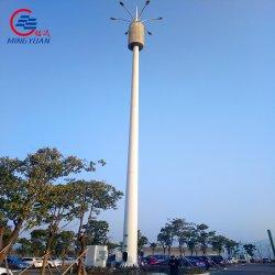 40m galvanisé à chaud de la tour de l'antenne conique octogonale monopole de la tour lumineuse de télécommunications mobiles de 5g