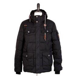 Os homens de meados do longo Inverno Estilo desportivo Jacket Conforto térmico Botão Casaco vestido de Bolso Stand Blusa com capuz do colar de vestuário