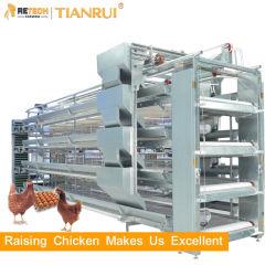 El Equipo de granja avícola automático de la capa de huevo de la batería de la jaula de pollo para las gallinas ponedoras