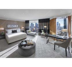 Silver métal poli Hotel Chambre à coucher Meubles pour un 5 étoiles