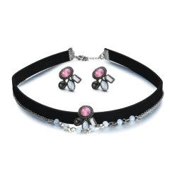 Commerce de gros 2018 Haut de la conception mode féminine Accessoires Bijoux Bijoux Set pour cadeau de promotion de cristal