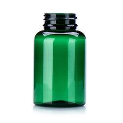 300ml comprimé pilule bouteilles PET de la vitamine D'emballeur, vert foncé bouteille PET avec bouchon de sécurité enfant