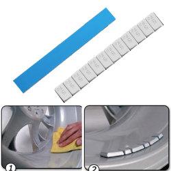 Pesi di equilibrio adesivi della gomma della rotella per il camion del motociclo dell'automobile