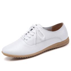 Nouveau design Femmes chaussures occasionnel des chaussures en cuir (HHGZ-10)