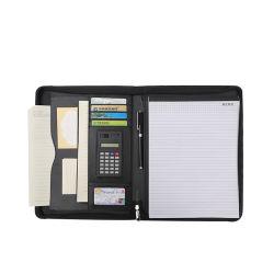 Fermeture à glissière personnalisé les fournitures de bureau A4 Dossier de fichier du portefeuille en cuir de PU