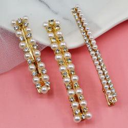 新しい方法の毛のアクセサー Bobby ピンの真珠の金属の銀の毛ピン女の子の女性の毛クリップのための花嫁の水晶ラインストーンの毛ピン