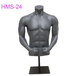 Maniqui femenino de medio cuerpo muscular maniquíes de deportes de fibra de vidrio.