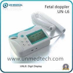 L'ONU-L6 chiffres de l'écran LCD portable Doppler de rythme cardiaque foetal de RCF