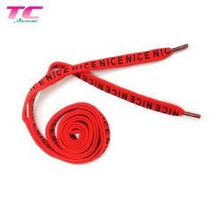 Nouveau produit cordon imprimé personnalisé pour des chaussures de course Shoelace plat