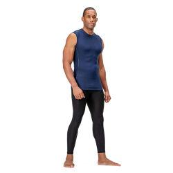 プリント83%多17%スパンデックスの涼しい乾燥した運動圧縮のBaselayerのカスタム試しの袖なしのワイシャツのTシャツ