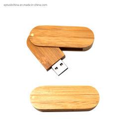 Venta caliente estilo giratorio de madera de bambú USB/FLASH USB Stick con alta velocidad