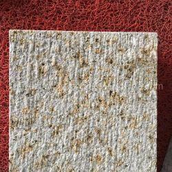 Superficie scalpellata Beige Granite G682 piastrelle in granito giallo rugoso per Rivestimento parete