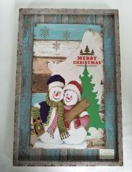Рождество деревянные УФ печать дизайн дизайн декоративные настенные картины