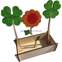 Une fleur artificielle en bois pour la maison Décoration bricolage de couleur