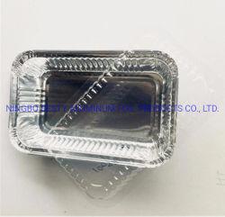 850ml Retangular Dubai capot papier 8389 Conteneur d'aluminium
