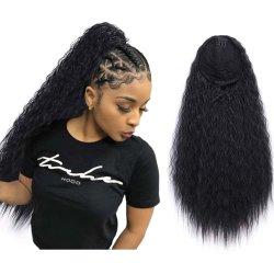 Cola de caballo Kbeth Beauty 22 pulgadas Afro Kinky agua onda Sexy Cola larga para mujeres negras Drawstring fábrica sintética aceptación personalizada Extensión de pelo de China