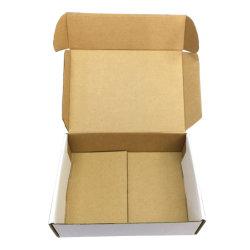 Soem-mit Reißverschlussplastik zerrissenes Kasten-Papieranfüllen mit Goldstempelnfirmenzeichen-Qualitätschina-Produkt