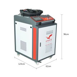 Dapeng 100W 200W 300W 500W 1000W Pulse Fiber Handheld Laser Reinigungsmaschine für die Lack- und Rostentfernung