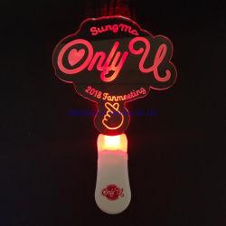Novità prodotti Custom acrilico trasparente LED lampeggiante Party Neon Light Bastone