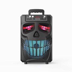 두개골 Bluetooth 스피커 Parlantes가 휴대용 Muse 선수에 의하여 LED 점화한다