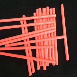 Paja naranja ecológica hecha de plástico PP para beber té