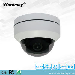 5.0MP Wardmay Zoom optique 4x étanche Caméra PTZ dôme IP