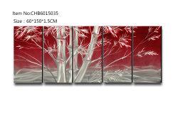 Бамбук 3D металлические масляной живописи Modern Home декоративная стена искусства 100% ручной работы