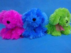 6 colores de la sesion de peluche largo perro de mascota juguetes con cinta de opciones