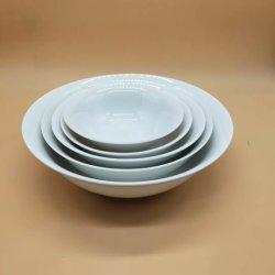 Porcelana blanca Juego de vajilla de cerámica Diinner para uso diario o en el restaurante