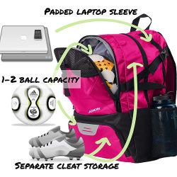 De Zak van de Rugzak van de Apparatuur van het basketbal draagt het Voetbal van het Volleyball