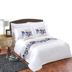 Shenone OEM 도매 럭셔리 호텔 뉴 베드 커버 리넨 러브 100% 면 소재 맞춤 침구 세트 호텔 시트 두바이
