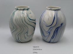 Großverkauf steuert Dekoration kundenspezifischen gemischten Farben-Porzellan-Vasen-keramisches Fertigkeit-Geschenk-keramischen Vase automatisch an