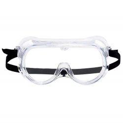 En stock de la Chine fournisseurs anti brouillard personnalisé à la poussière de la sécurité de protection individuelle jetable UV Transparent de produits chimiques de laboratoire Splash clair de la soudure des lunettes de protection