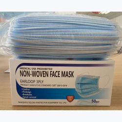 Het beschikbare Beschermende Niet-geweven 3ply Gezichts smelting-Geblazen Masker van het Gezicht Earloop/van het Stof