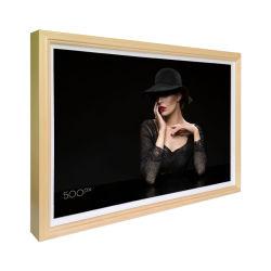 49-дюймовый Android 10+16, емкостного деревянный брусок 2 ГБ ОЗУ на цифровой фоторамке рекламы на дисплее