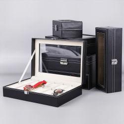 시계 포장 및 을 위한 디스플레이 창이 있는 고급 시계 상자 스토리지