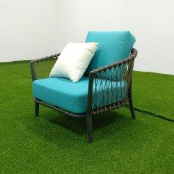 現代家具のロープによって編まれる屋外のソファー