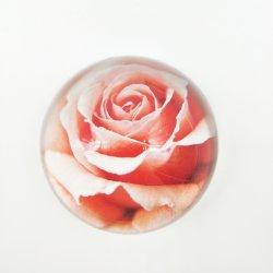 명확한 수정같은 유리 절반 공 구체 선전용 결혼 선물 문진 Rose4
