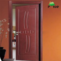 Dernière conception MDF en bois laminé pour la chambre intérieure de porte