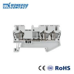 La gabbia su rotaie della molla connette il multi BACCANO dei blocchetti terminali del conduttore