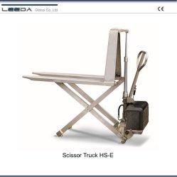 Hl-S-M en acier inoxydable de type ciseaux à haut relevage manuel chariot avec 2000mm de longueur de fourche