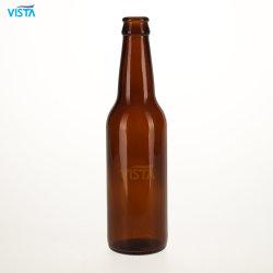 bernsteinfarbiger Glas-runde Flaschen-Kronen-Schutzkappen-Großverkauf des Bier-330ml