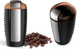 De duurzame (Zwarte) Bladen van het Roestvrij staal maalt de Elektrische Koffiemolen van de Bonen van de Koffie