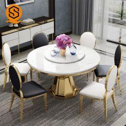 Muebles personalizados de forma redonda de piedra de mármol de las tablas Restaurante Inicio mesa de comedor en venta