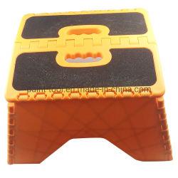 Etapa de dobragem convenientes com fezes de plástico autocolante antiderrapagem passo de fezes de plástico dobrável