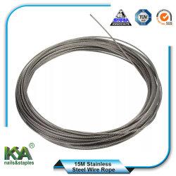 15m de la ropa de acero inoxidable 316 de la línea de cable Cable