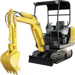 小さい油圧バケツの歯の掘削機の掘る掘削機2トンの小型ディーゼル掘削機