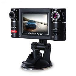 2.7인치 TFT LCD HD 1080p 듀얼 카메라 회전 렌즈 차량 F30 자동차 DVR 운전
