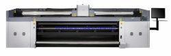 V388 3.2 متر شعار رأس الطباعة Kyocera PVC، إضاءة خلفية رسومات Pet Film Graphics UV Digital Printer
